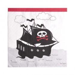 Serviette de table Pirate x 20