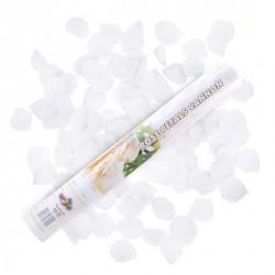 Canon à conféttis pétales de rose blanches