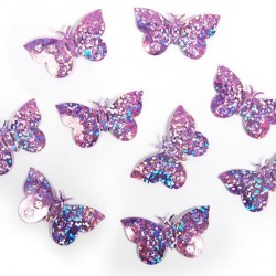 Confettis de table papillon lilas
