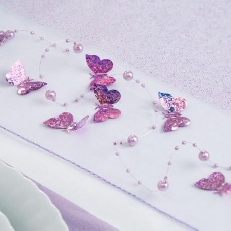 Confettis de table papillon lilas