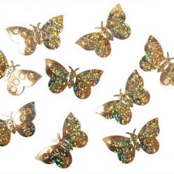 Confettis de table papillon or