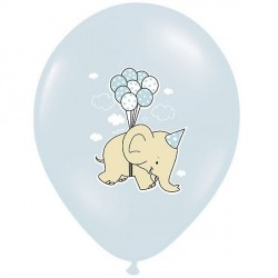 Ballon naissance éléphant bleu x 6