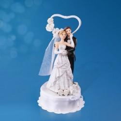 Figurine gâteau de mariage coeur romance