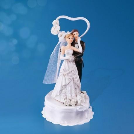 Figurine Gâteau Mariage Coeur Romance Dragées Anahita