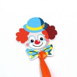 4 Etiquettes à dragées Clown