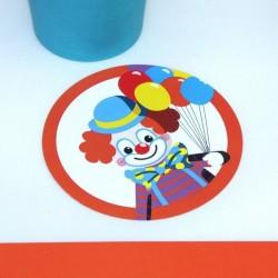 Sous verre Clown