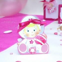 Contenant à dragées Bébé rose