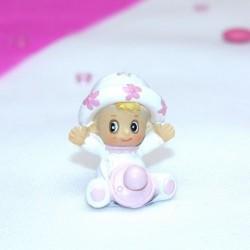Sujet céramique bébé rose