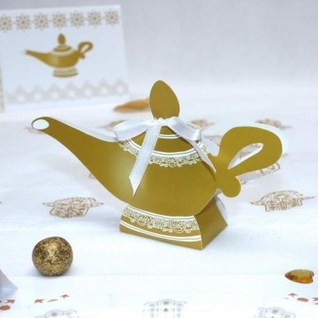 Boite à dragées lampe d'Aladdin