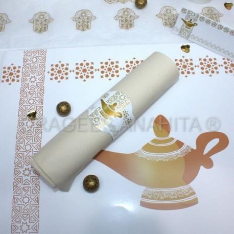Rond de serviette lampe d'Aladdin