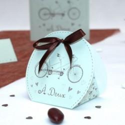 Emballage à dragées Vélo Tandem
