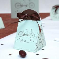Boite à dragées Vélo Tandem