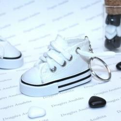 2 Baskets à dragées blanches avec porte clés