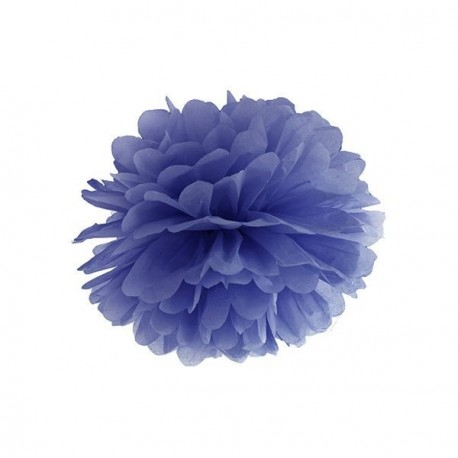Pompon bleu marine 25 cm