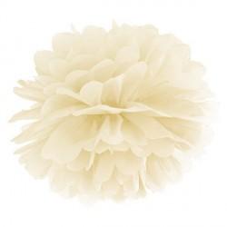 Pompon ivoire 35 cm