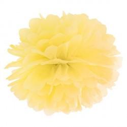 Pompon jaune 35 cm