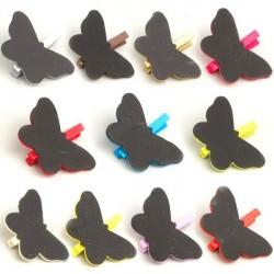 6 marques place ardoise papillon
