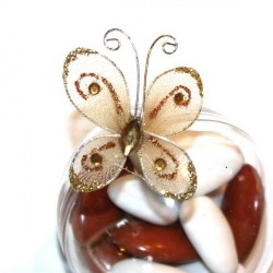 4 papillons chocolat autocollants