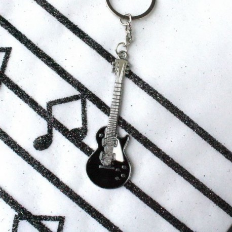 Porte clé guitare noire