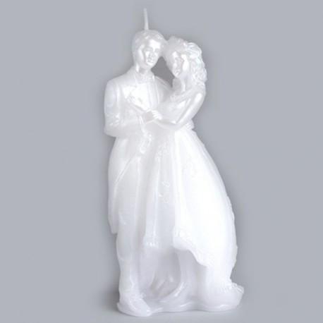 Grande bougie couple de mariés