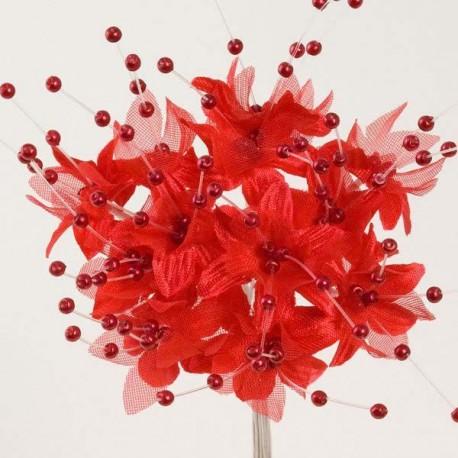 Fleur Perle Rouge