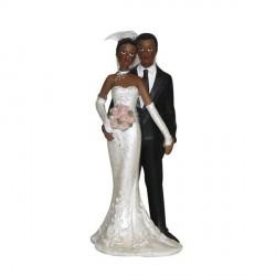 Figurine mariage couple noir