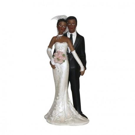 Figurine mariage couple noir - Dragées Anahita
