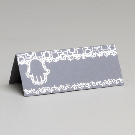 Marque place mariage Oriental gris
