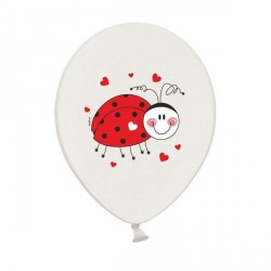 6 Ballons Gonflables Coccinelle