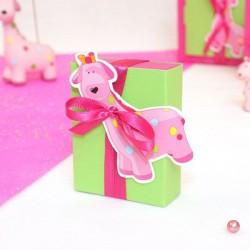 Fourreau à dragées girafe rose