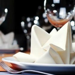 Serviette blanche en tissu x 25