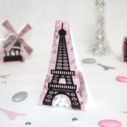 Contenant dragées Paris Tour Eiffel