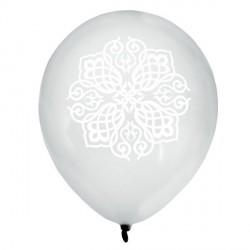 8 Ballons Oriental argent