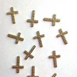 12 croix à coller or