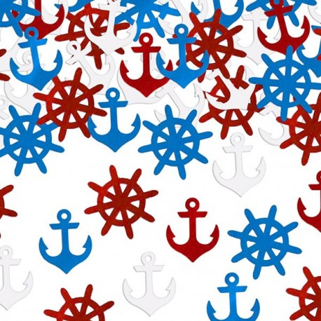 Confettis de table thème marin