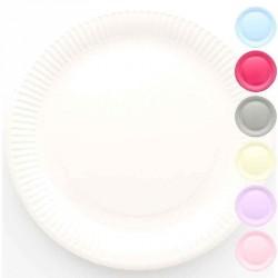 10 grandes assiettes de couleur en carton