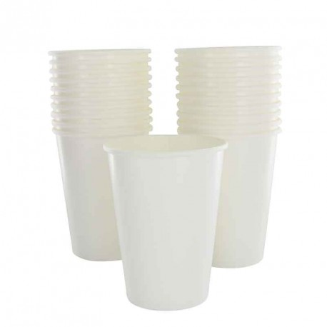 10 gobelets blanc en carton