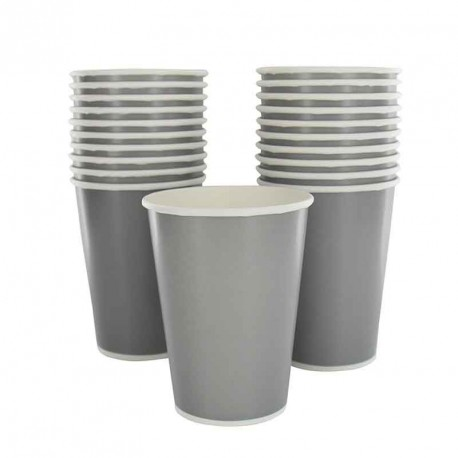 10 gobelets en cartons gris