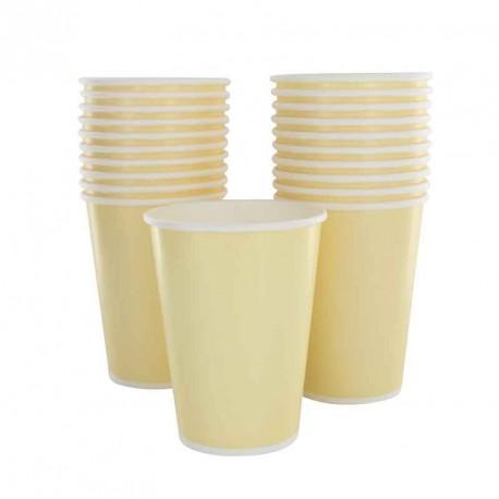 10 gobelets en cartons ivoire