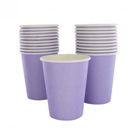 10 gobelets en cartons lilas