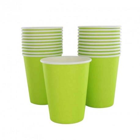 10 gobelets en cartons vert