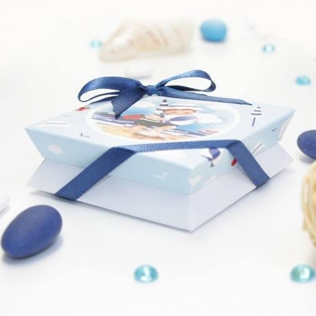Boîte à dragées pour un baptême pour parrain et marraine