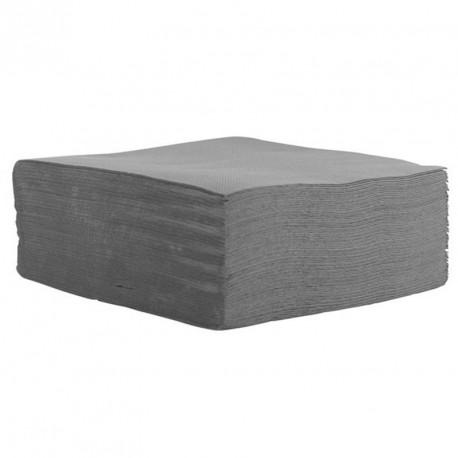 Serviette de table gris pas cher