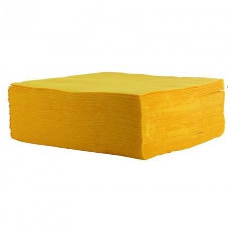 Serviette de table jaune pas cher