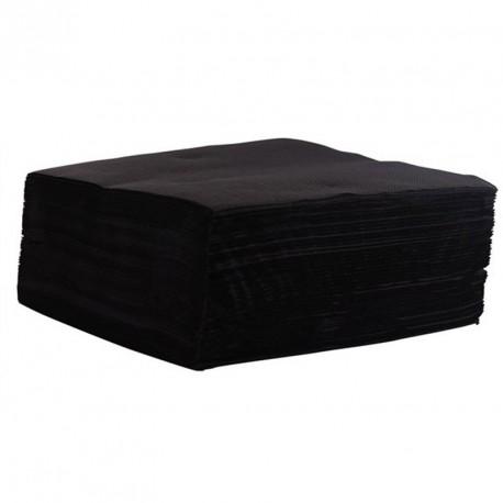 Serviette de table noire pas cher