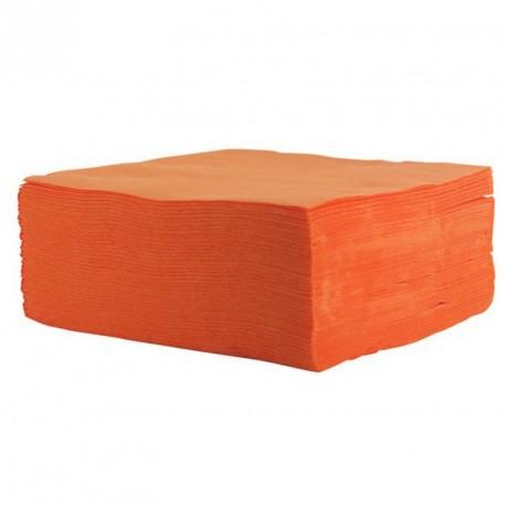 Serviette de table orange pas cher