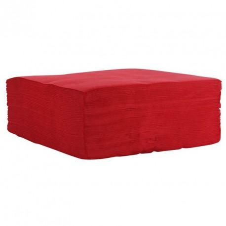 Serviette de table rouge pas cher