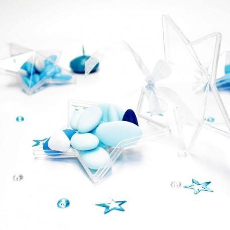 Contenant dragées étoile transparente