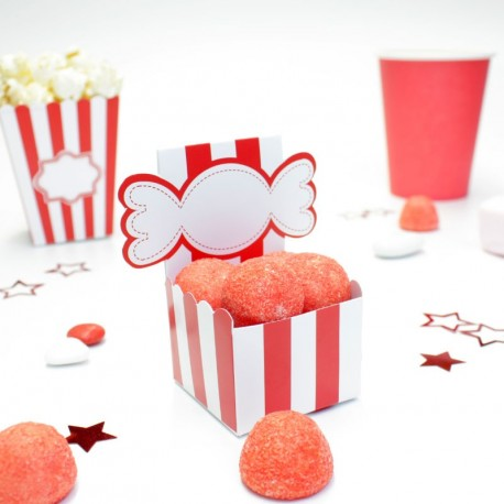 Boîte à dragées candy bar mariage