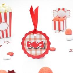 Etiquette bonbon candy bar pour contenant dragées